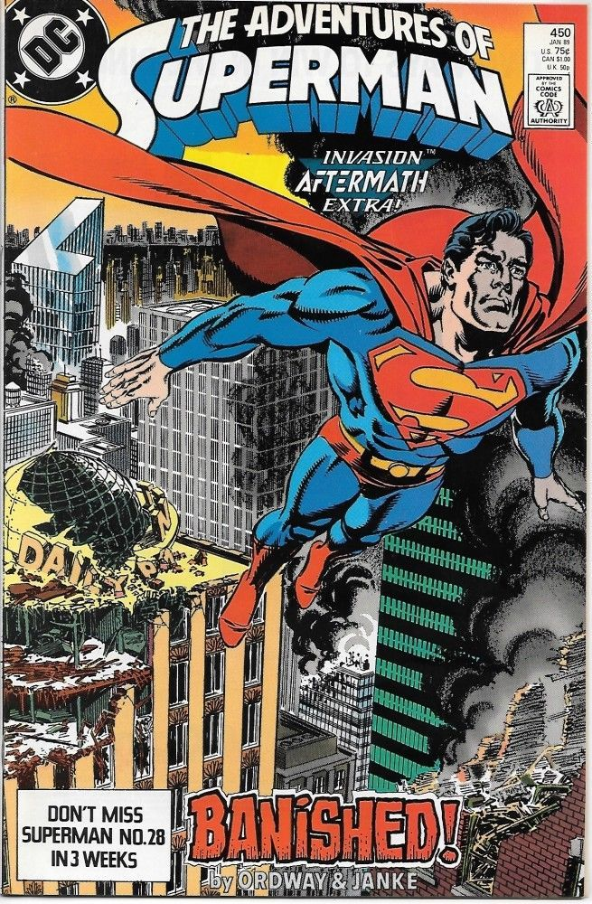 Primary image for The Adventures of Superman Comic Book #450 DC Comics 1989 NEAR MINT UNREAD