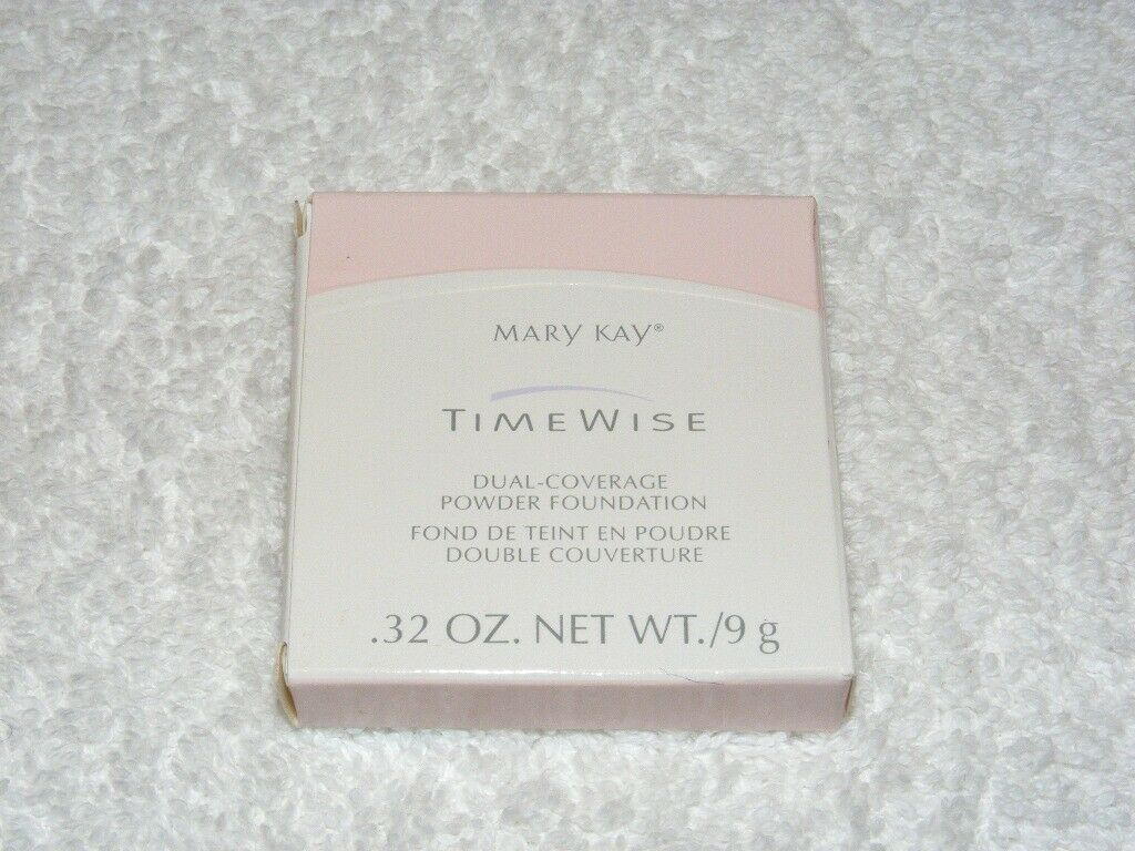 Primary image for NIB MARY KAY COSMETICS TIME WISE IVORY DUAL COVERAGE POWDER FOUNDATION # 104 892