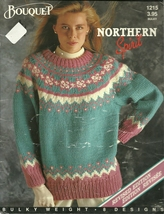 Bouquet Northern Spirit Mens Womens Knitted Sweater Cardigan Pattern Boo... - $9.99