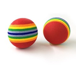 Cat Toys Dog Toys Rainbow Ball Colorful For Pets 2pcs - $2.99