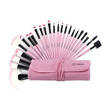 24PCS Professional Superior Soft Cosmetic Makeup Brush Set Pink + Pouch ... - $12.99