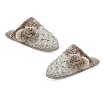 New INC International Concepts Faux Fur Basketweave Clog Slippers Small ... - $10.38