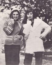 3x Women's Mary Maxim Cardigan Fair Isle Ski Sweater Hooded Jacket Patte... - $12.99