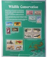 Postal Commemorative Society World Of Stamps Wildlife Conservation - $12.86
