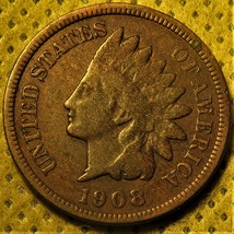 1908-S Indian Head Cent with all letters in LIBERTY visible! - $90.00