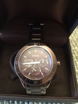 Fossil Brown Aluminum Band Brown Face Fossil Chrono - $121.99