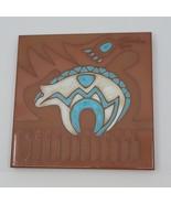 "Cleo Teissedre Tile Zuni Bear Trivet Coaster Wall Hanging 6x6"".   - $16.00"
