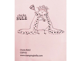 Stamping Bella Chicks RULE Rubber Cling Stamp Set #CGR102