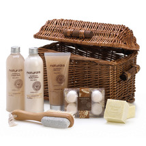 Body Care Gift Set, Healthy Gift Baskets Women Sandalwood Naturals Spa B... - $39.08
