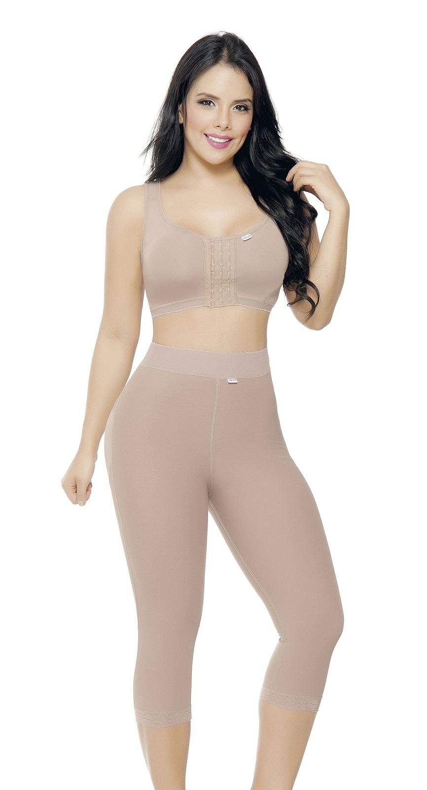 COCOON 1490 FAJA COLOMBIANA COMPLETE BODY SUIT WITH ZIPPER LACEY CONTROL