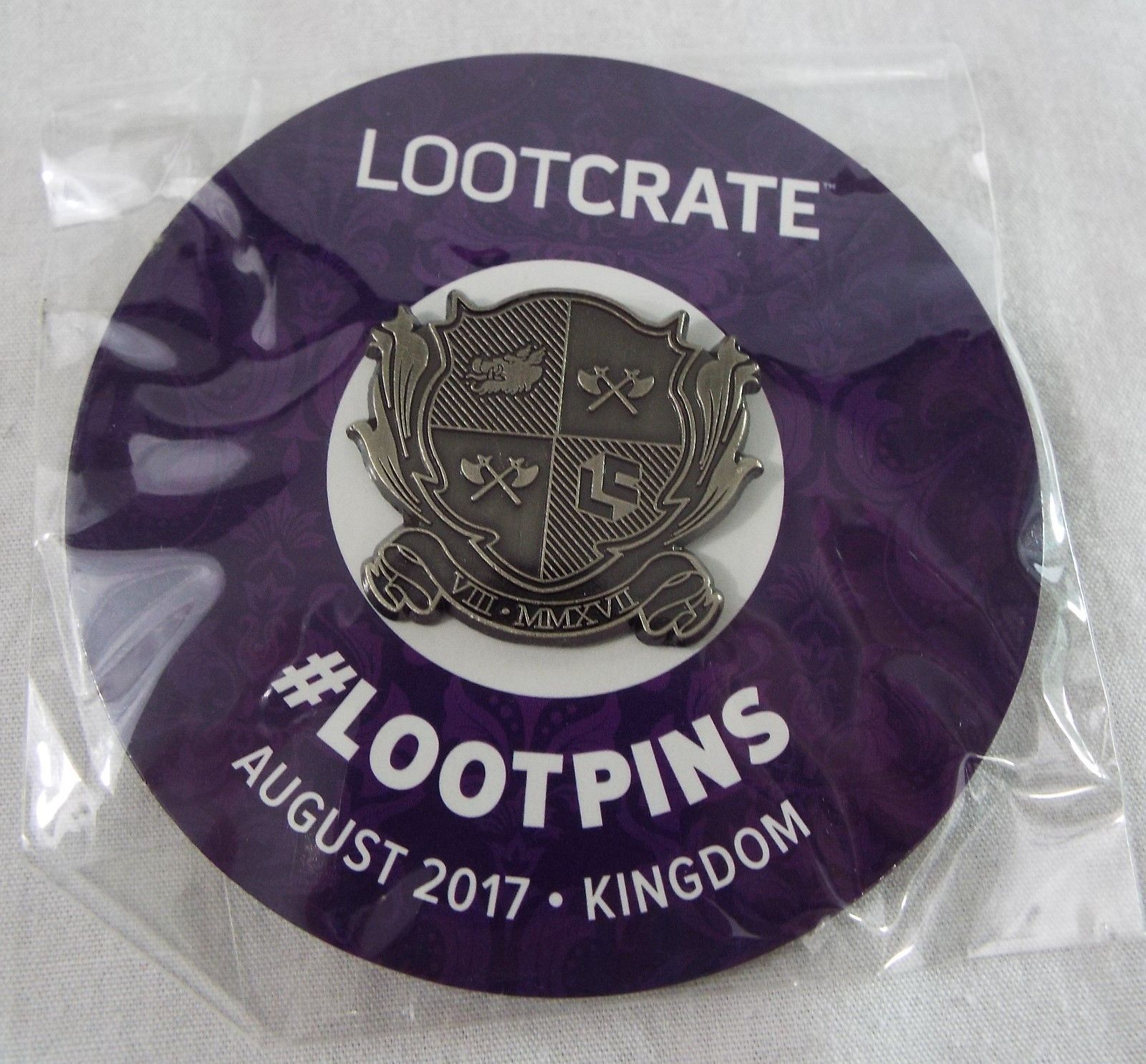 Primary image for Lootcrate Exclusive Lootpins Kindom Crest 1.5 inch NIP August 2017 Kingdom