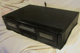 ONKYO TA-RW404 Dual Stereo Dubbing Cassette Deck,left deck not rite No Remote - $28.05