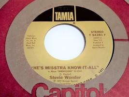 Stevie Wonder Sir Duke b/w He's Misstra Know-It-All 45 image 3