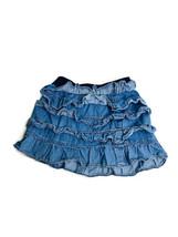 GAP Kids Size S 6-7 Blue Denim Tiered Ruffle Skirt - $9.46