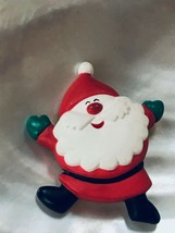 Estate Hallmark Cards Marked Plastic Dancing Santa Claus Christmas Holiday Pin  - $8.59