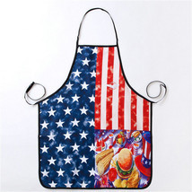 American Flag Apron Stars and Stripes Sleeveless Pinafore BBQ Cooking Cloth - $3.99