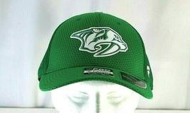 Nashville Predator NHL  St Patrick's Day Green Baseball Cap Stretch Fit L/XL - $29.99
