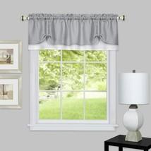 "Achim Home Furnishings, Grey/White DRVL14GW12 Darcy Window Curtain Valance, 58"" - $29.21"