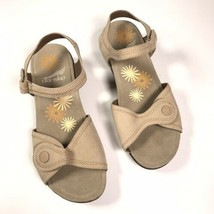 Dansko Iris Women's Sz. 7.5 - 8 EUR 38 Beige Sandals Shoes Suede Leather... - $40.19