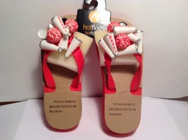 NEW Hotflops Red Cheerleading Flip Flops Child Sized
