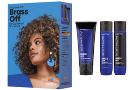 Matrix Total Results Brass Off Shampoo, Conditioner, Toning Mask Boxed Set - $41.00