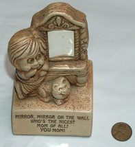 VTG PAULA 1972 Mirror On The Wall Who's Nicest Of All, YOU MOM! Wood Fig... - $34.63