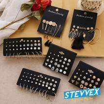 Modern Luxury Woman Earrings Flower Women'S Earrings Set Pearl Crystal Stud - $18.99+
