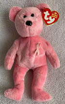2006 Ty Beanie Baby AWARENESS the Breast Cancer Bear (8.5 Inch) MWMT Pink Ribbon - $10.88