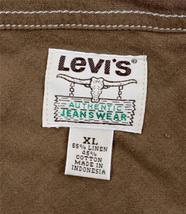 BRAND NEW LEVI'S MEN'S LINEN LONG SLEEVE CASUAL DRESS SHIRT BROWN 8151400 image 6