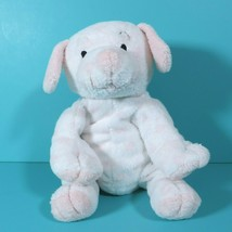 "Ty Pluffies Baby Lovesy Pup Pink Spots White Puppy Dog 8"" Plush Sewn Eyes 2004 - $21.95"
