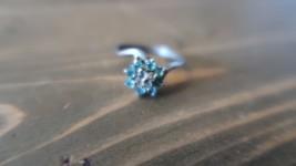 Vintage 14k GE Rhinestone Flower Ring Size 7.75 - $11.87