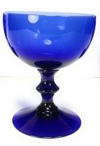 """Vintage SWEDEN NYBRO COBALT BLUE WINE / CORDIAL Stem  4-3/8"""" Swedish 8 o... - $8.45"""