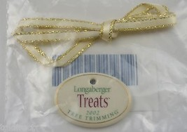 Longaberger Pottery 2002 Treats Tree Trimming Tie-On Accessory Collectib... - $9.99