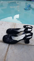 NEW strap HIGHLIGHTS with 8 5 SIZE MARY black ankle suede JANE shoes rrwH8Rxd
