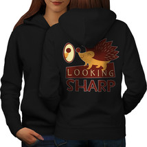 Hedgehog Look Sharp Sweatshirt Hoody Funny Wild Women Hoodie Back - $21.99+