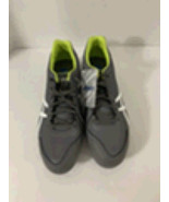 NEW ASICS Base Burner K600Y 9707 Mens Baseball Cleats Size 11.5 Gray Lime - $45.95