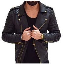 New Men Real Lambskin Leather Jacket Biker Motorcycle Style Slim Fit Coa... - $159.99+