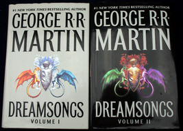 George R.R. Martin DREAMSONGS 1-2 HCDJ FEFP VGC+  Ice and Fire Game of T... - $17.41