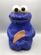 Vintage 1970s Handpainted Sesame Street Cookie Monster Cookie Jar Muppets  - $83.76