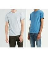 Mens levis 2-pack Basic Slim Fit  Cotton T-shirt Half Sleeves white/Blue XL - $12.95