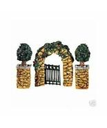 Dept 56 Dickens Snow Village  Stone Corner Posts, Holly Tree, Stone Arch... - $52.08