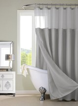 Dainty Home CSCDLGR Waffle Shower Curtain Complete Shower Curtain,Gray - €27,33 EUR