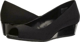 Bandolino Women's Black Candra Peep Toe Wedge Pumps Shoes Size 10.5 M  - $33.66