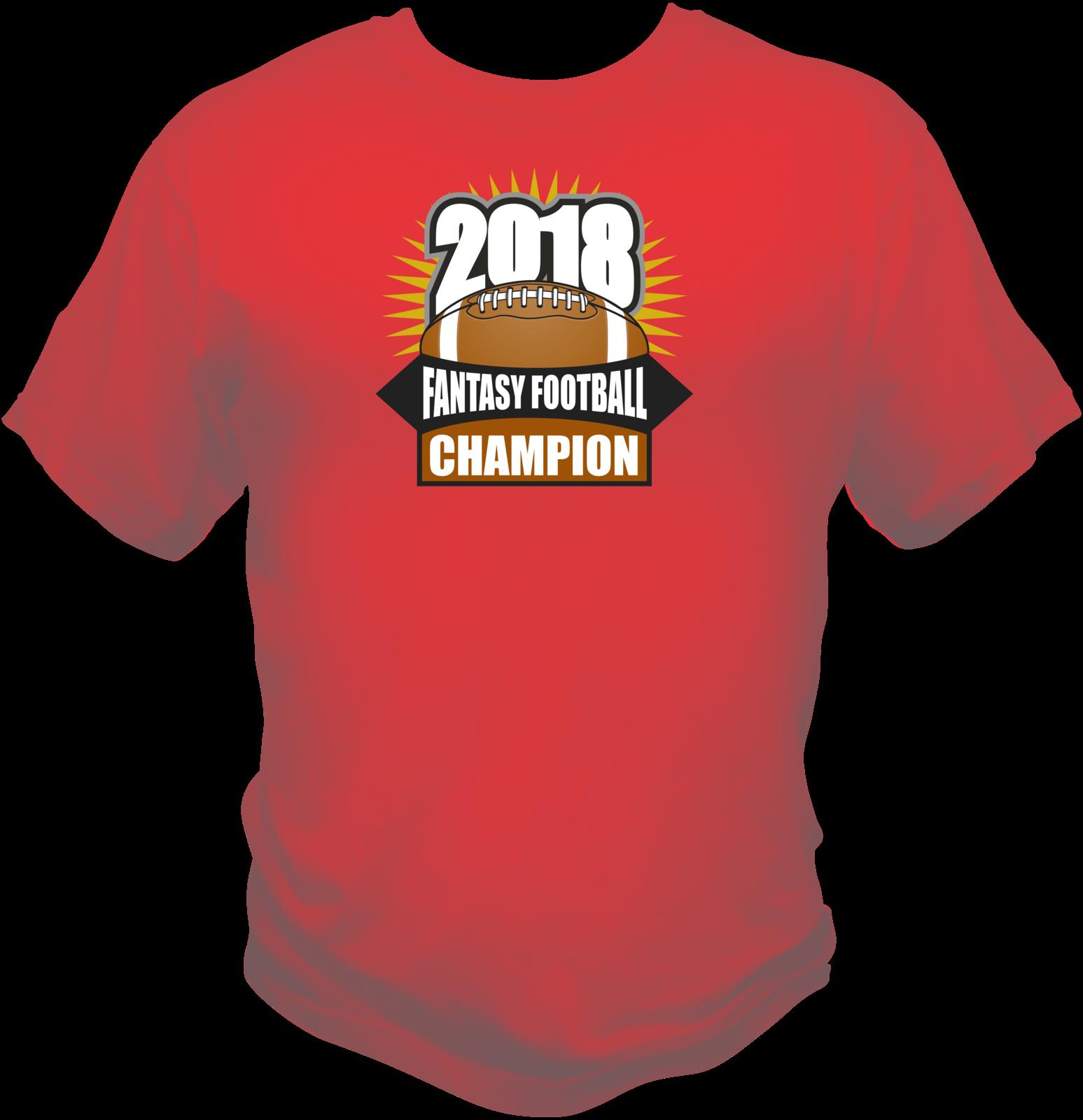 Fantasy Football Champion 2018 Themed Mens Graphic Sports Style T Shirt L XL 2X