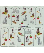 BANG STORE Nail Art Water Decals Bunny Flowers Easter Spring Carrot Garden  - $2.11