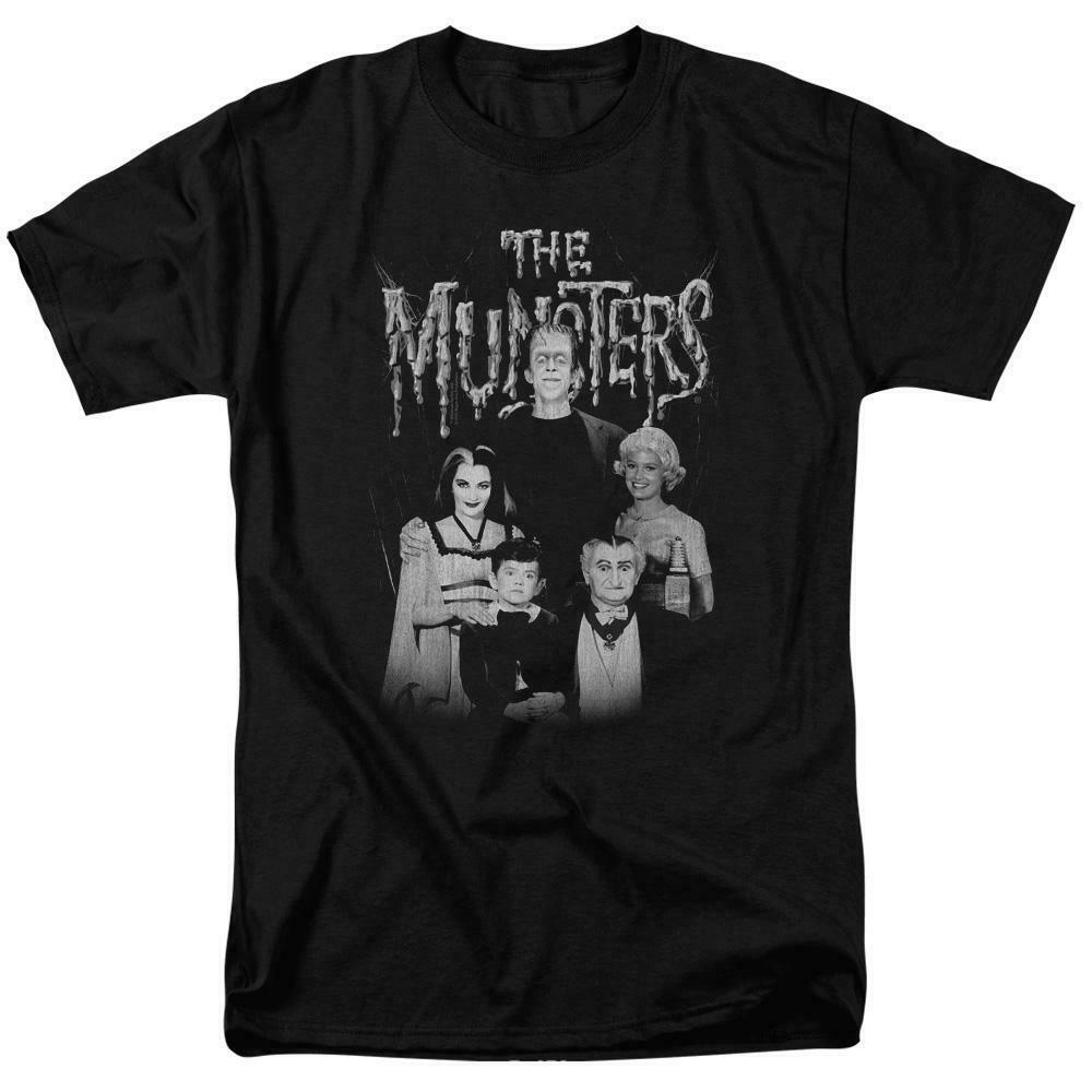 The Munster's family group photo t-shirt retro TV series graphic tee NBC768