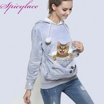 Factory seller Cat Lovers Hoodie Kangaroo Dog Pet Paw Emboridery  Pullov... - $28.48+