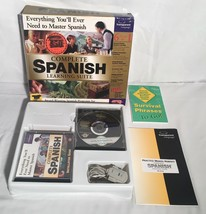 COMPLETE SPANISH LEARNING SUITE Windows 95 98 Vintage PC Software Big Bo... - $24.74