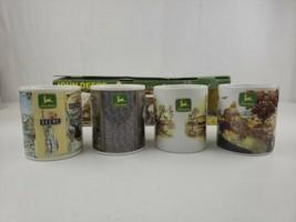John Deere Set of 4 Nostalgic 11oz Coffee Cups Mugs w Box Gibson2000 20... - $69.00