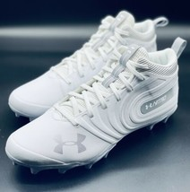 NEW Under Armour Nitro Mid MC White Football Cleats 3000181-100 Size 12.5 - $39.59